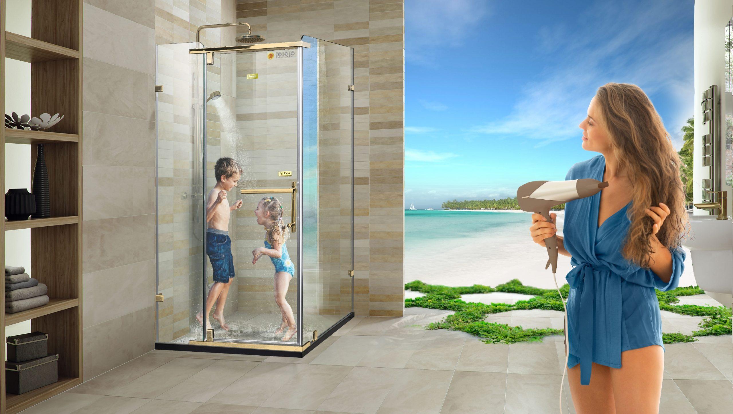 Phòng tắm kính thế hệ mới Fendi