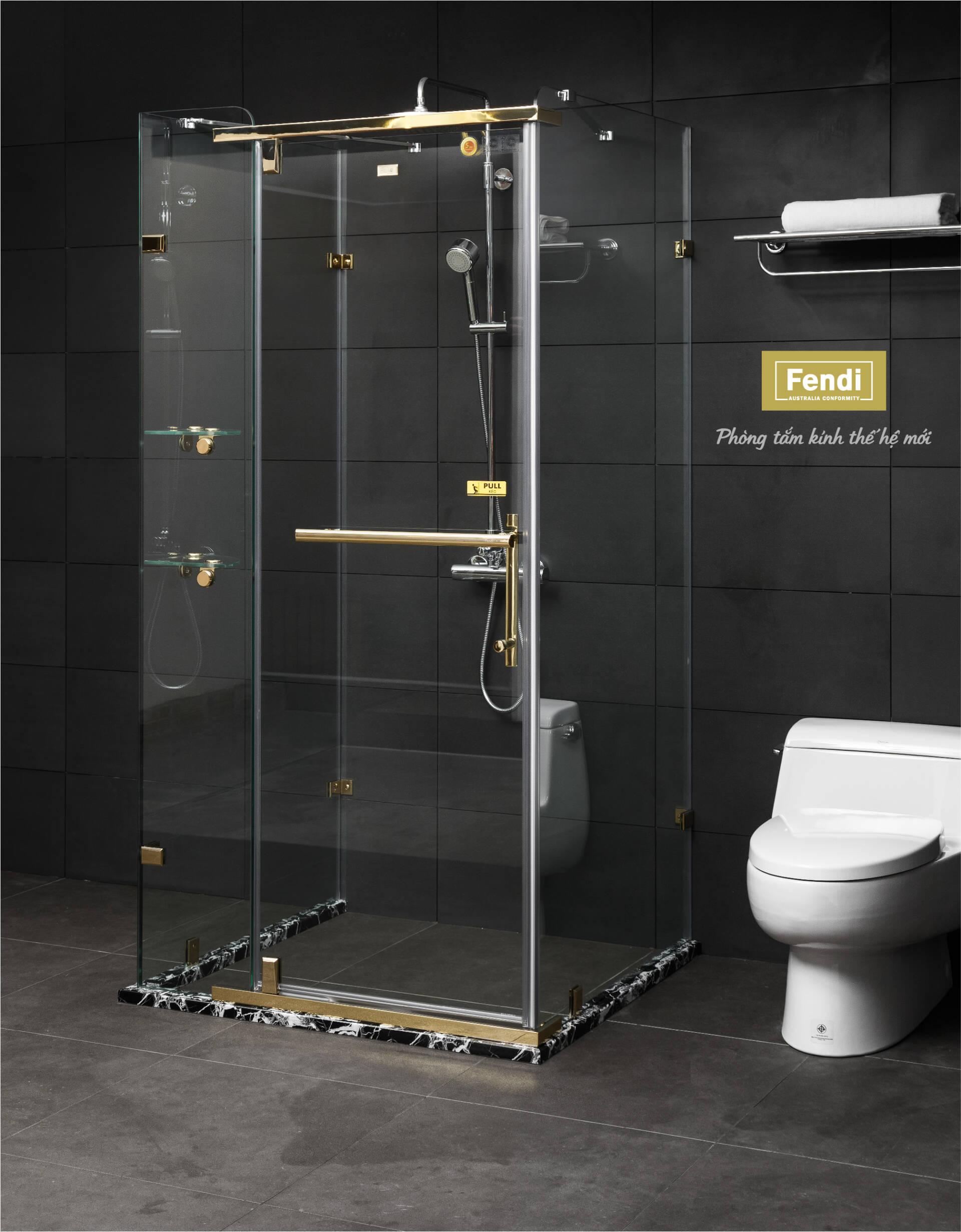 Phòng tắm kính có màu trong suốt sẽ tạo ra không gian mở, phù hợp với cả phòng hẹp lẫn rộng