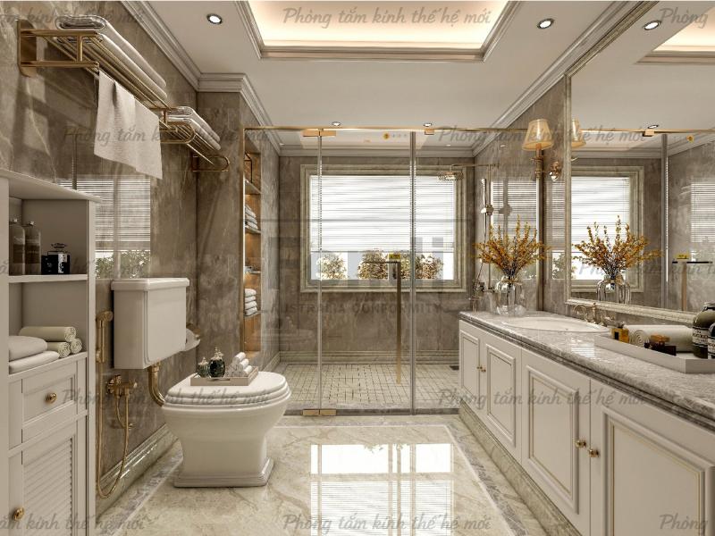 Phòng tắm kính Fendi Majestic mang thiết kế tinh tế, sang trọng & lịch lãm