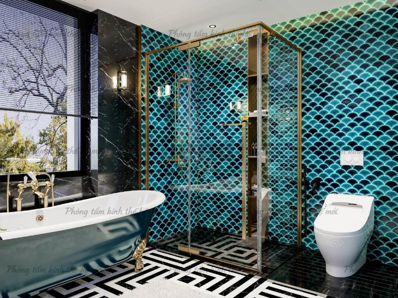 Phòng tắm kính Fendi Majestic được thiết kế phù hợp với nhiều phong cách nội thất khác nhau